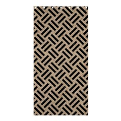 Woven2 Black Marble & Sand Shower Curtain 36  X 72  (stall)  by trendistuff