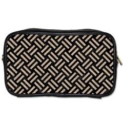 Woven2 Black Marble & Sand (r) Toiletries Bags by trendistuff