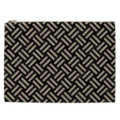 Woven2 Black Marble & Sand (r) Cosmetic Bag (xxl)  by trendistuff