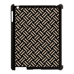 Woven2 Black Marble & Sand (r) Apple Ipad 3/4 Case (black) by trendistuff