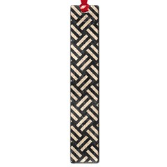 Woven2 Black Marble & Sand (r) Large Book Marks by trendistuff