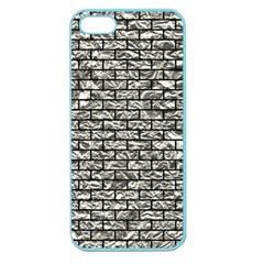 Brick1 Black Marble & Silver Foil Apple Seamless Iphone 5 Case (color) by trendistuff
