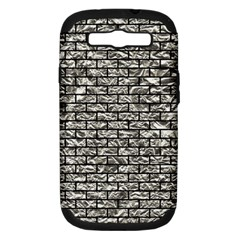Brick1 Black Marble & Silver Foil Samsung Galaxy S Iii Hardshell Case (pc+silicone) by trendistuff