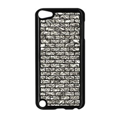 Brick1 Black Marble & Silver Foil Apple Ipod Touch 5 Case (black) by trendistuff