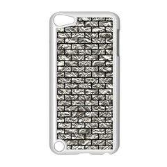 Brick1 Black Marble & Silver Foil Apple Ipod Touch 5 Case (white)