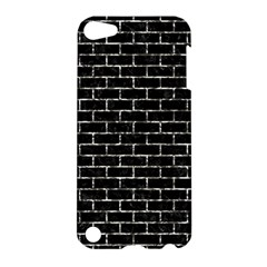 Brick1 Black Marble & Silver Foil (r) Apple Ipod Touch 5 Hardshell Case by trendistuff