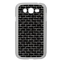 Brick1 Black Marble & Silver Foil (r) Samsung Galaxy Grand Duos I9082 Case (white) by trendistuff