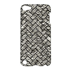 Brick2 Black Marble & Silver Foil Apple Ipod Touch 5 Hardshell Case by trendistuff