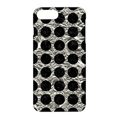 Circles1 Black Marble & Silver Foil Apple Iphone 7 Plus Hardshell Case by trendistuff