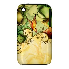 Wonderful Flowers With Butterflies, Colorful Design Iphone 3s/3gs by FantasyWorld7