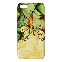 Wonderful Flowers With Butterflies, Colorful Design Iphone 5s/ Se Premium Hardshell Case by FantasyWorld7