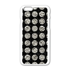 Circles1 Black Marble & Silver Foil (r) Apple Iphone 6/6s White Enamel Case by trendistuff