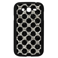 Circles2 Black Marble & Silver Foil Samsung Galaxy Grand Duos I9082 Case (black) by trendistuff