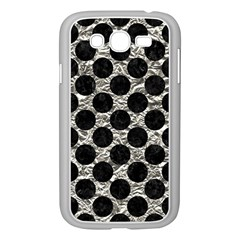 Circles2 Black Marble & Silver Foil Samsung Galaxy Grand Duos I9082 Case (white) by trendistuff