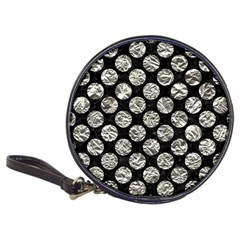 Circles2 Black Marble & Silver Foil (r) Classic 20 Cd Wallets by trendistuff