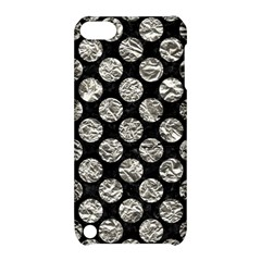 Circles2 Black Marble & Silver Foil (r) Apple Ipod Touch 5 Hardshell Case With Stand by trendistuff