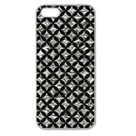 CIRCLES3 BLACK MARBLE & SILVER FOIL Apple Seamless iPhone 5 Case (Clear) Front