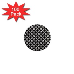 Circles3 Black Marble & Silver Foil (r) 1  Mini Magnets (100 Pack)  by trendistuff