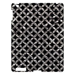 Circles3 Black Marble & Silver Foil (r) Apple Ipad 3/4 Hardshell Case by trendistuff