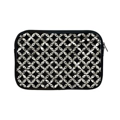Circles3 Black Marble & Silver Foil (r) Apple Ipad Mini Zipper Cases by trendistuff