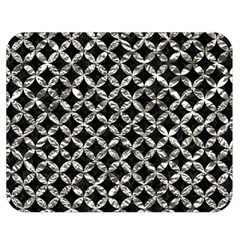 Circles3 Black Marble & Silver Foil (r) Double Sided Flano Blanket (medium)  by trendistuff
