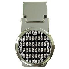 Diamond1 Black Marble & Silver Foil Money Clip Watches by trendistuff
