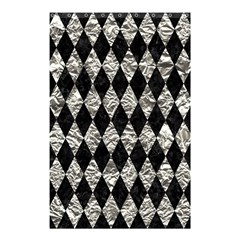 Diamond1 Black Marble & Silver Foil Shower Curtain 48  X 72  (small)  by trendistuff