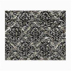 Damask1 Black Marble & Silver Foil Small Glasses Cloth by trendistuff