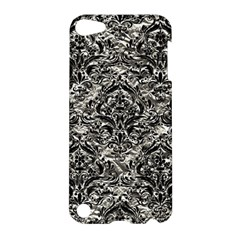 Damask1 Black Marble & Silver Foil Apple Ipod Touch 5 Hardshell Case by trendistuff
