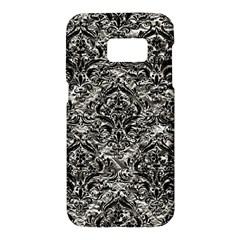 Damask1 Black Marble & Silver Foil Samsung Galaxy S7 Hardshell Case  by trendistuff