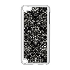Damask1 Black Marble & Silver Foil (r) Apple Ipod Touch 5 Case (white) by trendistuff
