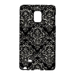 Damask1 Black Marble & Silver Foil (r) Galaxy Note Edge by trendistuff