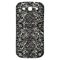 Damask2 Black Marble & Silver Foil Samsung Galaxy S3 S Iii Classic Hardshell Back Case by trendistuff