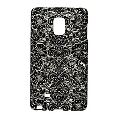 Damask2 Black Marble & Silver Foil Galaxy Note Edge by trendistuff