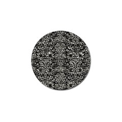 Damask2 Black Marble & Silver Foil (r) Golf Ball Marker (4 Pack) by trendistuff
