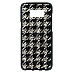 Houndstooth1 Black Marble & Silver Foil Samsung Galaxy S8 Plus Black Seamless Case