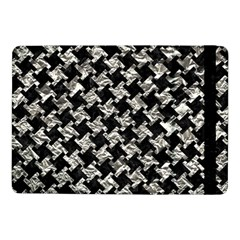 Houndstooth2 Black Marble & Silver Foil Samsung Galaxy Tab Pro 10 1  Flip Case by trendistuff