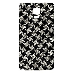 Houndstooth2 Black Marble & Silver Foil Galaxy Note 4 Back Case by trendistuff