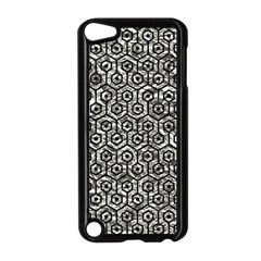 Hexagon1 Black Marble & Silver Foil Apple Ipod Touch 5 Case (black) by trendistuff