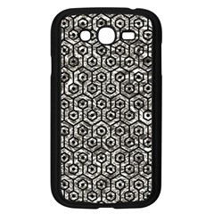 Hexagon1 Black Marble & Silver Foil Samsung Galaxy Grand Duos I9082 Case (black) by trendistuff