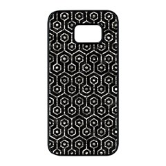 Hexagon1 Black Marble & Silver Foil (r) Samsung Galaxy S7 Edge Black Seamless Case by trendistuff