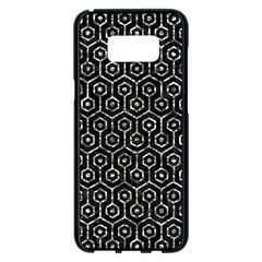 Hexagon1 Black Marble & Silver Foil (r) Samsung Galaxy S8 Plus Black Seamless Case