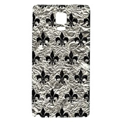 Royal1 Black Marble & Silver Foil (r) Galaxy Note 4 Back Case by trendistuff