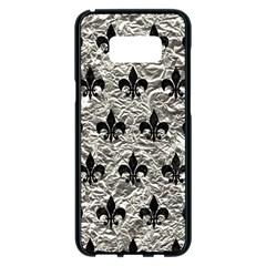 Royal1 Black Marble & Silver Foil (r) Samsung Galaxy S8 Plus Black Seamless Case by trendistuff