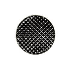 Scales1 Black Marble & Silver Foil (r) Hat Clip Ball Marker (10 Pack) by trendistuff