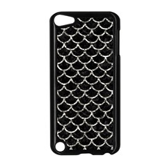 Scales1 Black Marble & Silver Foil (r) Apple Ipod Touch 5 Case (black) by trendistuff