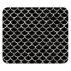Scales1 Black Marble & Silver Foil (r) Double Sided Flano Blanket (small)  by trendistuff