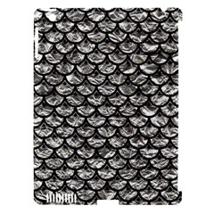 Scales3 Black Marble & Silver Foil Apple Ipad 3/4 Hardshell Case (compatible With Smart Cover) by trendistuff