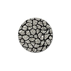 Skin1 Black Marble & Silver Foil (r) Golf Ball Marker (10 Pack) by trendistuff
