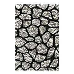 Skin1 Black Marble & Silver Foil (r) Shower Curtain 48  X 72  (small)  by trendistuff